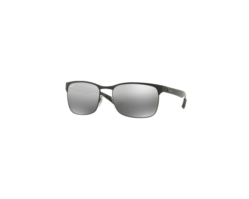 08c312b1068 Ray-Ban RB8319CH Black Top On Matte Black Grey Mirror Grey Gradient ...