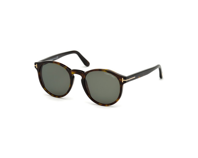 74770892041cf Tom Ford Ian-02 Dark Havana Green Lenses - TF0591 52N - Sunglasses ...