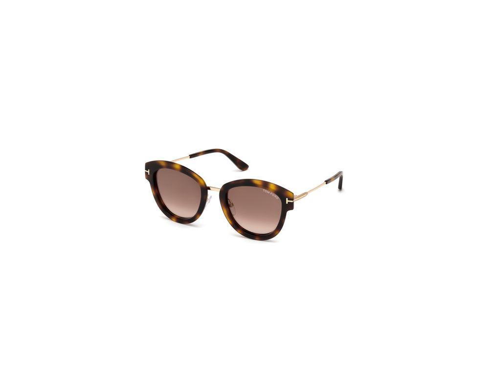 f8fff3e5aec3f Tom Ford Mia-02 Dark Havana Brown Mirror - TF0574 52G - Sunglasses ...