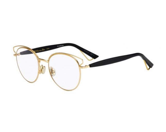 08f42279d0f1d Dior Sideralo Demi Rose Gold Black - 157462 DEM - Lunettes de vue ...