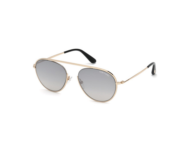 82c6128bc8 Tom Ford Keith-02 Gold Rose Green Grey - TF0599 28C - Sunglasses ...
