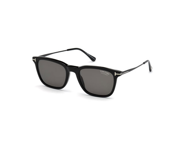 new high quality 100% genuine new york Tom Ford Arnaud-02 Shiny Black Grey Polarized - TF0625 01D ...