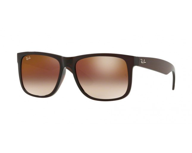 5a8336ad2f Ray-Ban Justin Brown Brown Gradient Mirror Red - RB4165 714 S0 ...