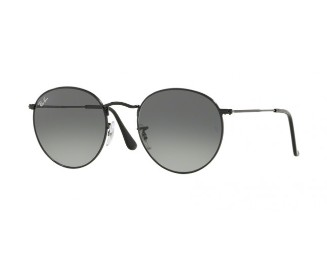 a36847fe96 Ray-Ban Round Metal Arista Black Grey Gradient Dark - RB3447N 002 71 ...