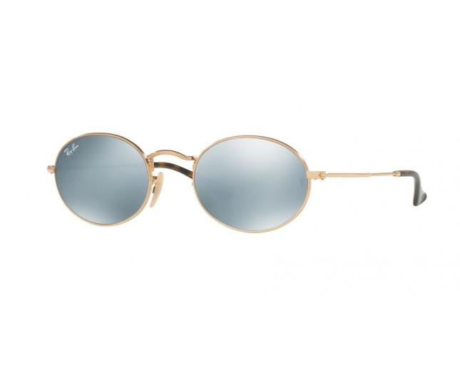 d3b50dcd8b Ray-Ban Oval Metal Shiny Gold Crystal SilverFlash - RB3547N 001 30 ...