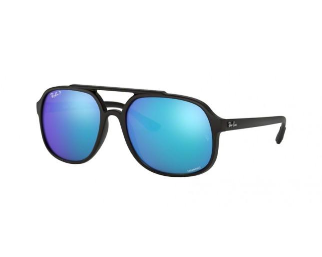 eb27cde2d899f Ray-Ban RB4312CH Matte Black Green Mirror Blue Polar - RB4312CH 601SA1 -  Sunglasses - IceOptic