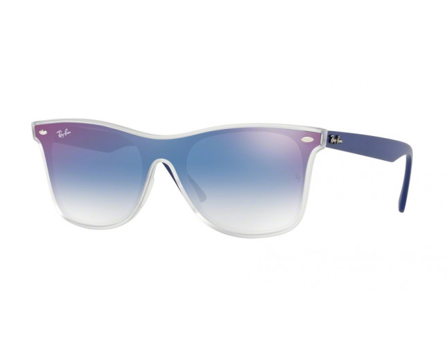 Ray-Ban RB4440N Matte Transparent Clear Gradient Blue Mirror