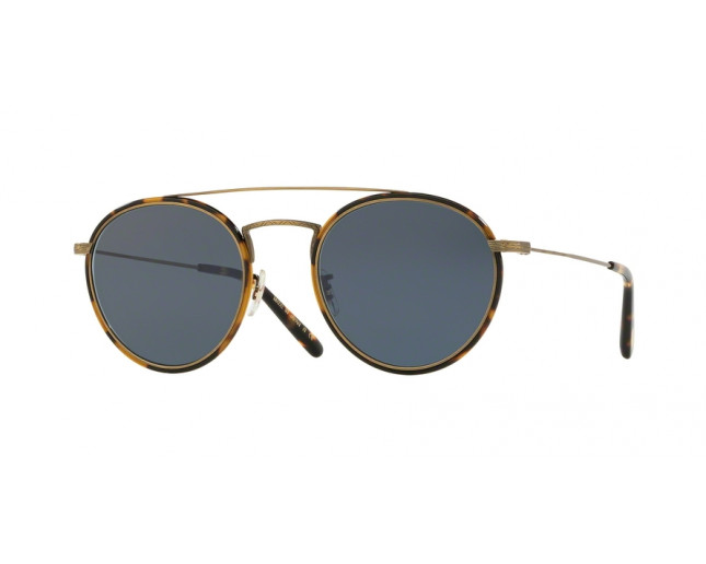 Oliver Peoples Ellice New Antique Gold Blue Lenses