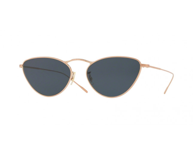 Oliver Peoples Lelaina Soft Rose Gold Blue Lenses