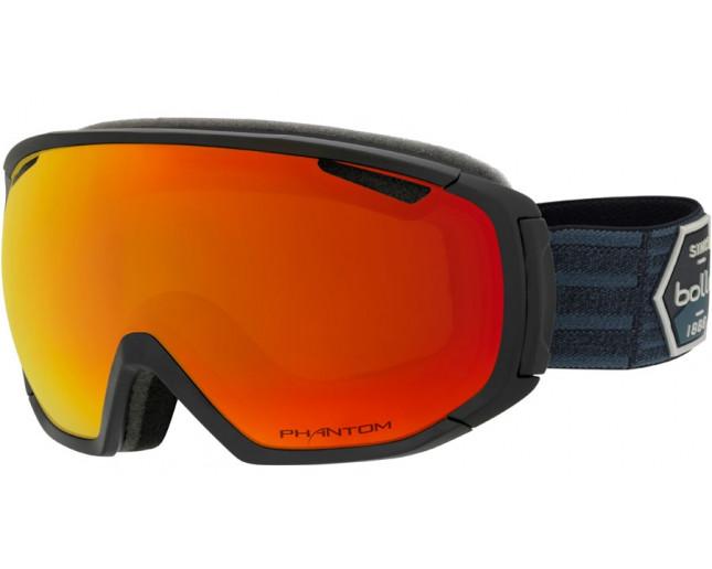 6ef3c404d99 Bollé Masque de Ski Tsar Matte Black Patch Phantom Fire Red NXT Cat ...