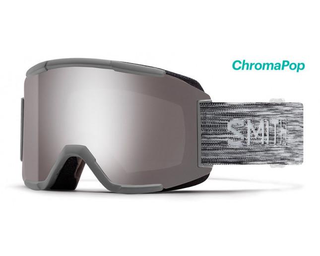 Black Frame//ChromaPop Everyday Green Mirror Lens Smith Squad Snow Goggles
