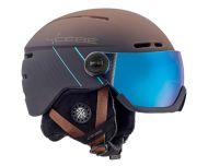 Cébé Casque de Ski Fireball Matt Brown Blue 2 visières Cat. 1 & 3