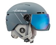 Cébé Casque de Ski Fireball Matt Ciment White 2 visières Cat. 1 & 3