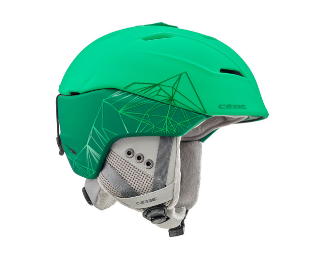 Cébé Casque de Ski Atmosphere 2.0 Matt Green Geomatric Mountain
