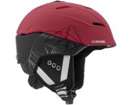 Cébé Casque de Ski Atmosphere 2.0 Matt Black Red Geometric Mountain