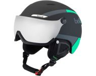 Bollé Casque de Ski à visière B-Yond Visor Black & Green Silver Gun Visor cat3