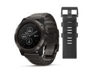 Garmin Fénix 5X Plus HR Black Sapphire noire avec bracelet métal
