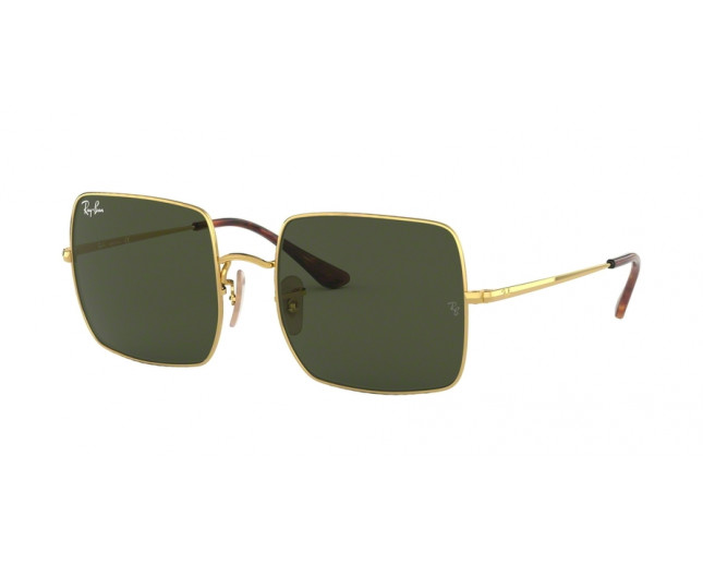 Ray-Ban RB1971 Square Gold Crystal Green