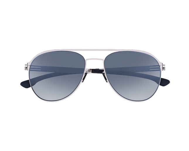 IC! Berlin Atitila L Chrome Marine Blue Moonlight Mirror Polarized