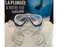 Demetz Clip and Dive Masque de Plongée à la Vue