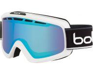 Bollé Masque de Ski Nova II Matte White et Black Neon Polarized Aurora