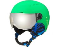 Bollé Quiz Visor Matte Green Grey Gun Visor Cat3 - Casque de Ski à visière Junior