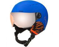 Bollé Quiz Visor Matte Royal Blue Orange Gun Visor Cat2 - Casque de Ski à visière Junior
