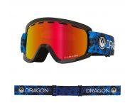 Dragon Masque de Ski LILd Dart Blue Lumalens Red Ionized