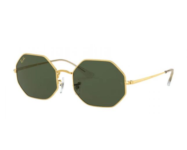Ray-Ban RB1971 Octagon Gold Crystal Green
