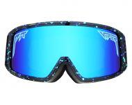 Pit Viper Goggles Midnight Colorway with Purple/Blue Revo Mirror
