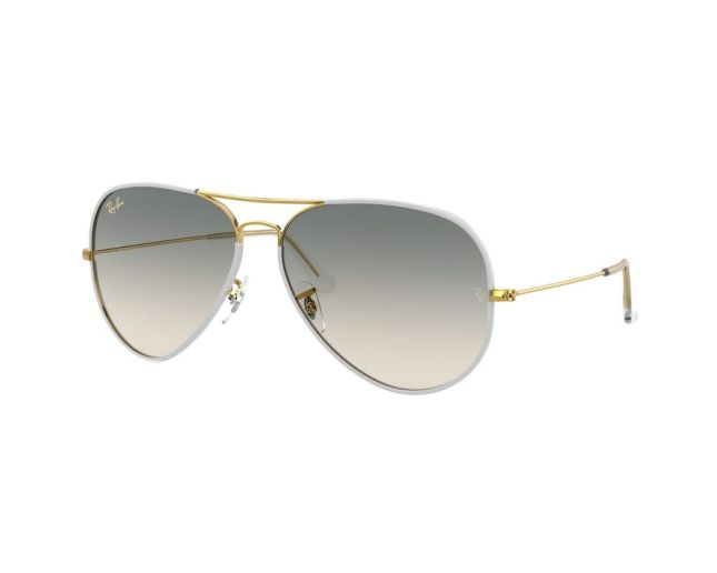 Ray-Ban Aviator Full Color Shiny Gold Grey Gradient