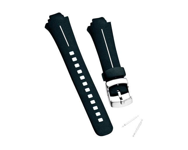 Suunto Bracelet Observer elastomere noir et blanc
